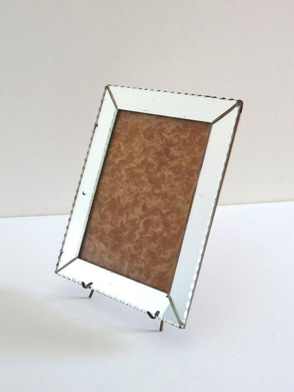 Cadre photo miroir biseauté années 50