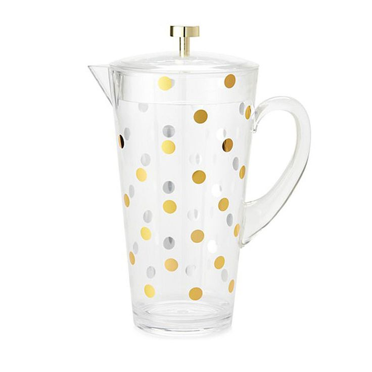 top3 by design - Kate Spade - pitcher gold dot