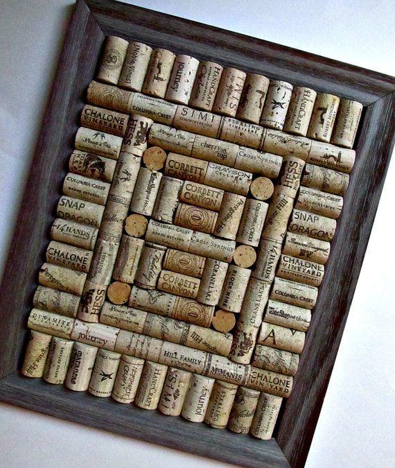 Rustic Wine Cork Board