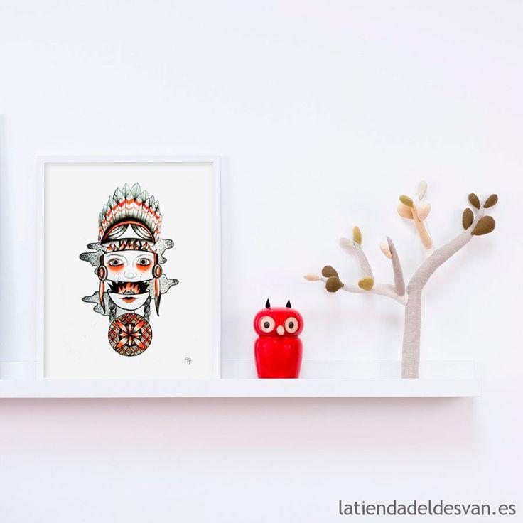 Lámina - Fuego - Artista: Andrea Alonso  La Tienda del Desván #láminas #decoración #arte #otoño