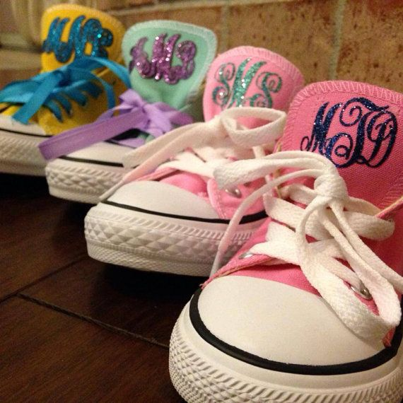Toddler Made to Match Glitter Monogram by ShopSmashCakeCouture