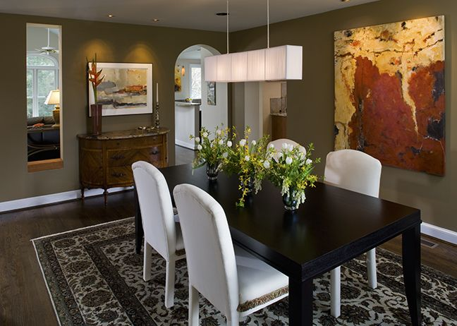 Dining Room To Show Off Artworkalso Includes A Beautiful Rounded Archway