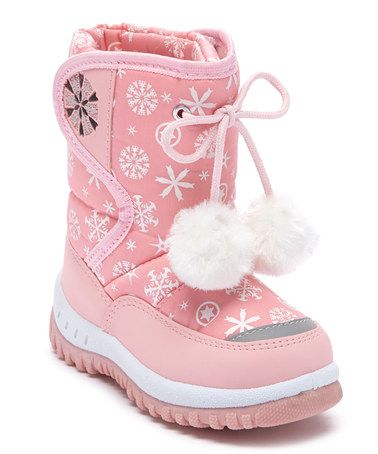 Look at this #zulilyfind! Pink Snowflake Snow Boot by Adorababy #zulilyfinds
