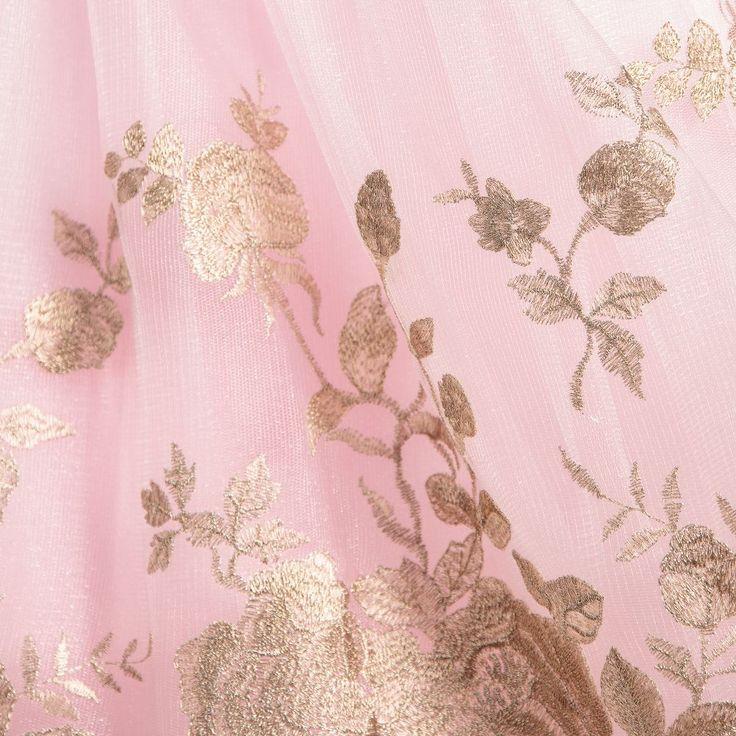 DAVID CHARLES  Girls Long Pink Dress