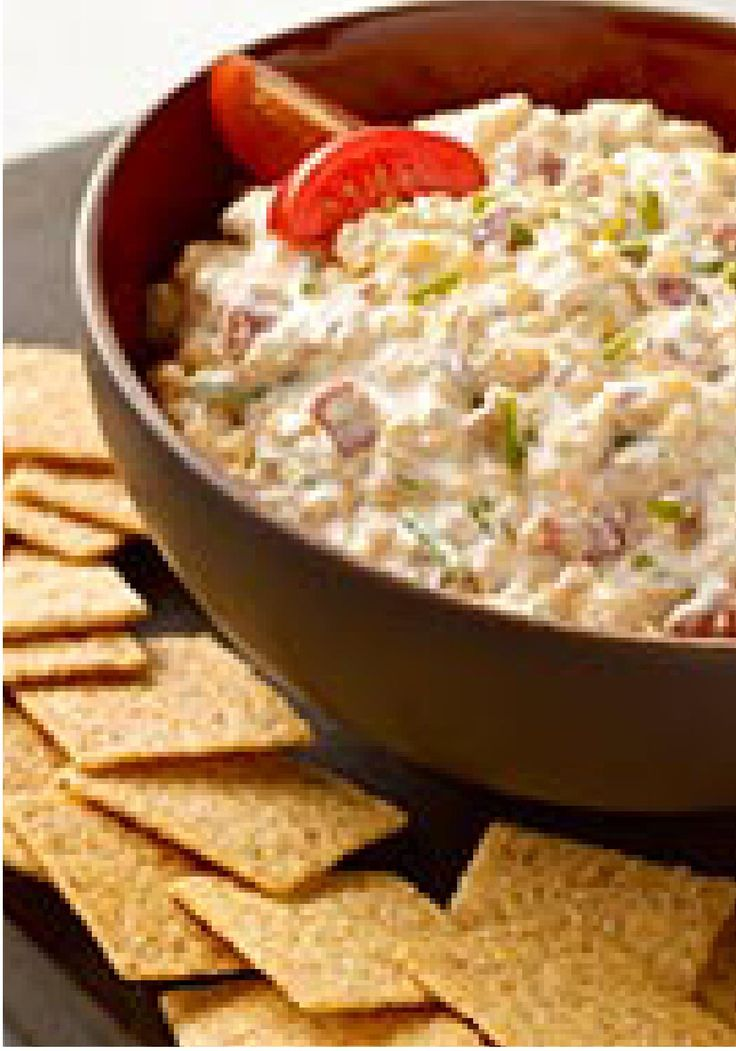 Horseradish Bacon Dip — This crowd-pleasing appetizer gets its smoky, creamy deliciousness from crumbled bacon and smooth sour cream. And its attitude? That's the horseradish in the recipe talking.