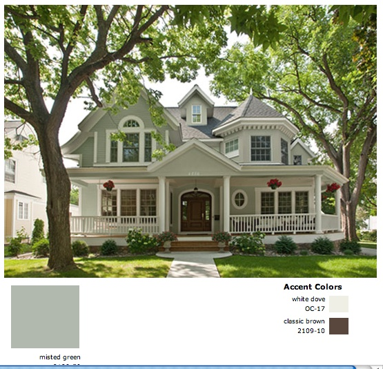 benjamin moore misted green exterior bm colors brochure describes. Black Bedroom Furniture Sets. Home Design Ideas