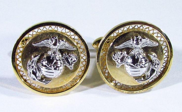 Usmc United States Marine Corps Emblem Cufflinks Oorah