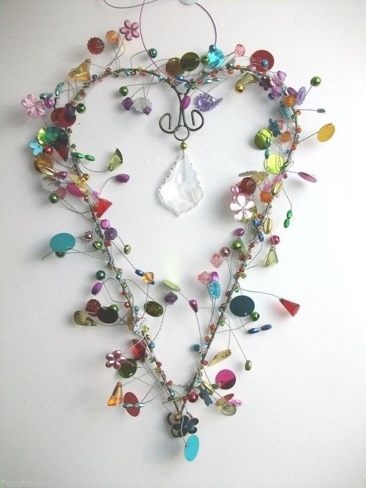 Suncatcher Funkel Feng Shui Großes Herz Kristall TAJ Wood Scherer Weihnachtsdeko   eBay