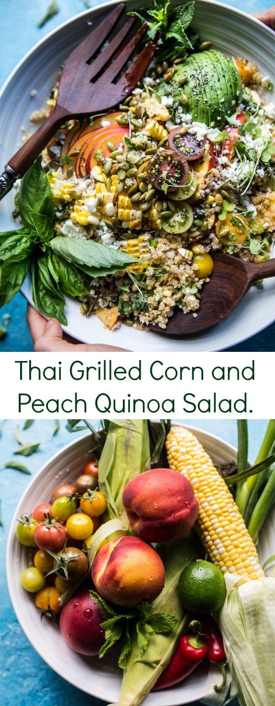 thai grilled corn and peach quinoa salad mother s salad quinoa salad ...