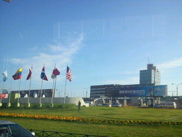 Sicht auf den Flughafen von Lima Peru. Aeropuerto de Lima Jorge Chavez.