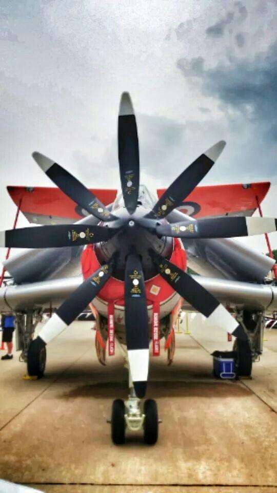 Fairey Gannet Engine and Propeller unique