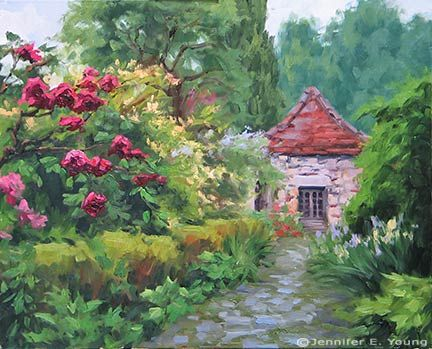 French Country Garden Painting Wip Cont 39 D French