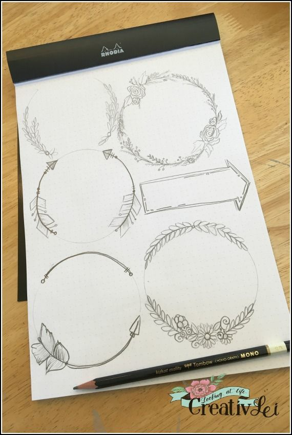 easy-wreaths-and-arrows-for-adding-interest-to-hand-lettering-and-bullet-journal-pages-loveyourlettering-part-2-with-creativlei-com
