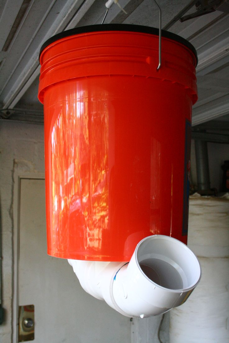 "$16.00  5 gallon deer feeder. Not only is this cheap, but its easy and fast.  You can make about 6 of these for the same cost as you can buy one from the store. Parts: 1- 3"" PVC drain clean-out tee, 2- 3"" PVC 45 degree elbows, 1- 5 gallon bucket and lid,"