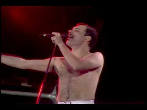 Queen - RADIO GA GA Live At Wembley 1986. Freddie Mercury was brilliant...gone way too soon!