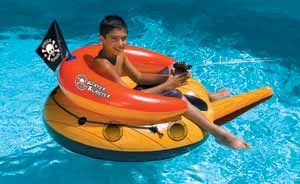 114cm diameter Pirate design Pool Float - comes complete with constant supply water pistol.