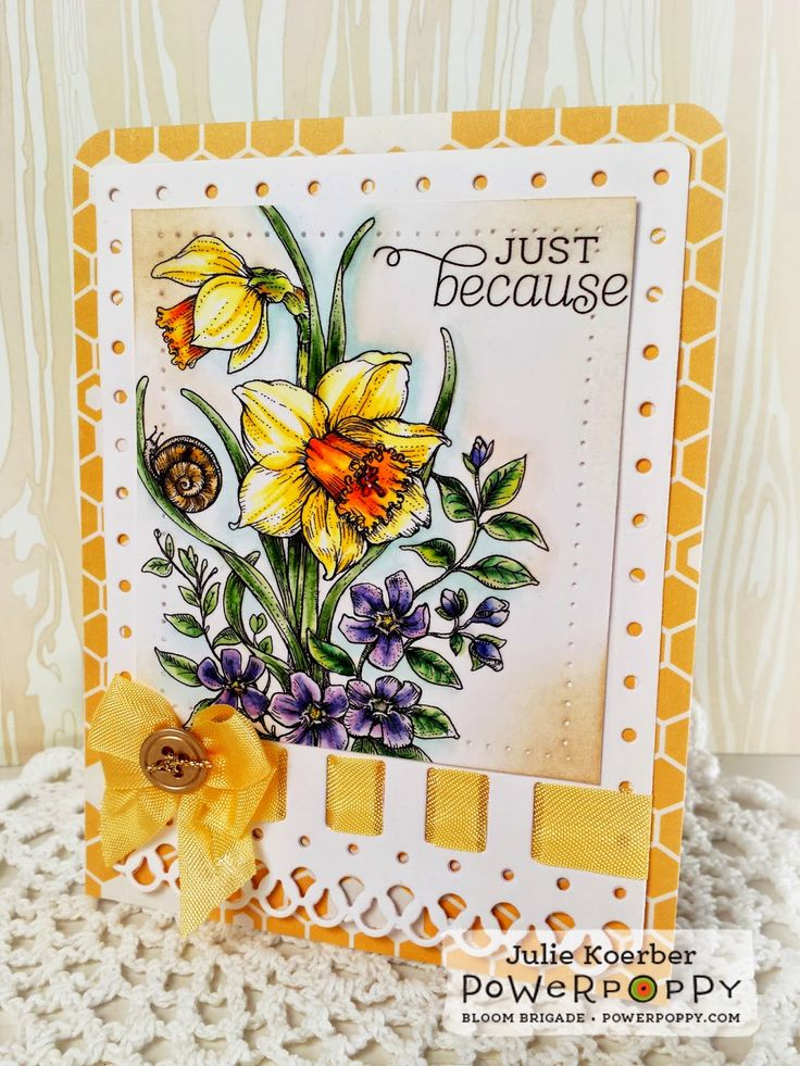 Out To Impress: Let's Dance! Dancing with Daffodils Digital Stamp Set by Power Poppy!