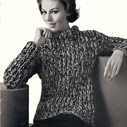 big needle knitted sweater pattern warm and bulky this