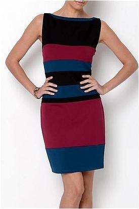 ABS By Allen Schwartz Three-Color Dress - Enviius
