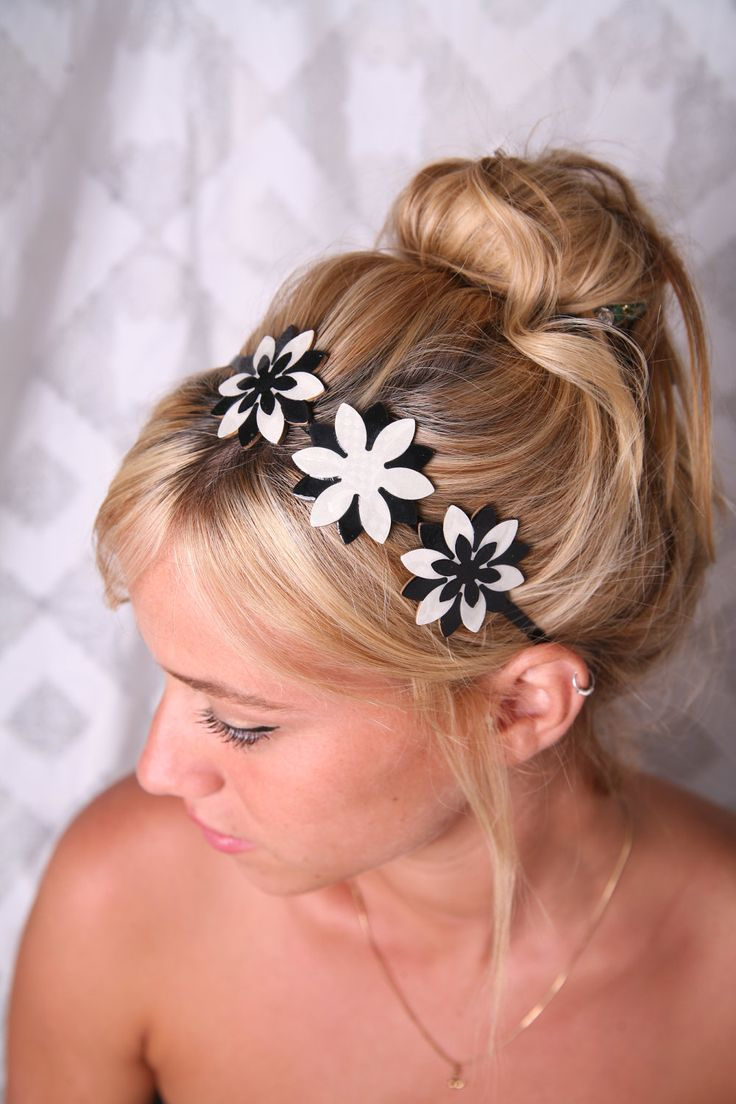 how to wear a flower headband with short hair