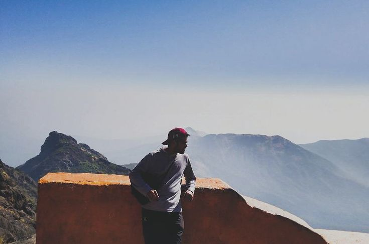 """One has climb 10000 steps reach at """"Duttyetra Temple"""" which is the final destination of Girnar Mountain.  It's the highest peak in Gujarat. Comprising of 866 temples. . . . #gir #girnar #mountain #india #hills #travel #instagram #instatravel #clouds #photography #pose"""