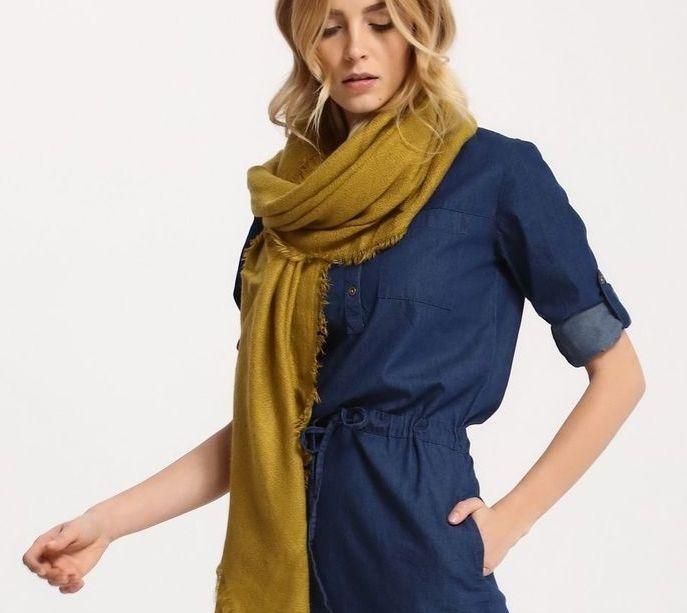 Chusta damska Top Secret z kolekcji wiosna-lato 2017 khaki olive scarf