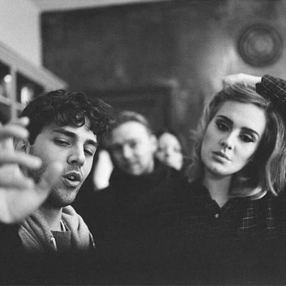 Adele on set during filming of music video 'Hello'. Adele XavierDolan