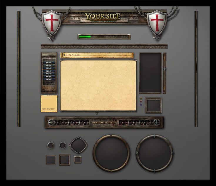 Fantasy Game GUI   Game UI Design Freelancer - AntonW