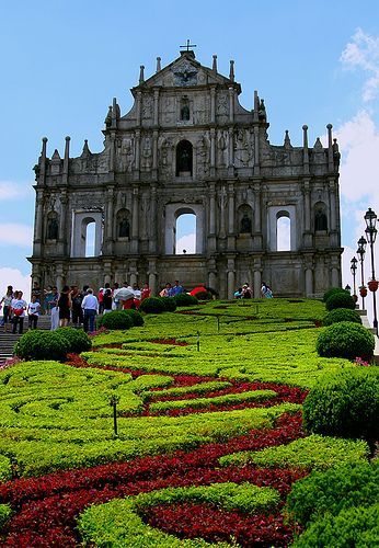 ruins of St. Paul church, Macau | China. Been here and the church is only a facade, with nothing behind it but it's still beautiful.