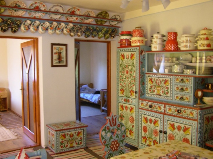 hungary .. the paintings on the hutches. oh. and the simple bedrooms. oh. oh.