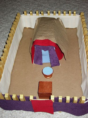 Instructions for homemade tabernacle model, plus other resources used during 2013 nana camp.