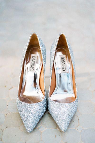 Sparkly silver shoes: http://www.stylemepretty.com/destination-weddings/2014/12/11/romantic-pink-navidad-wedding-inspiration/ | Photography: http://www.mireiacordomi.com/