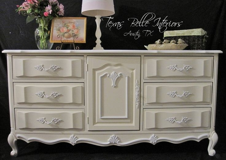 Chalon Cherry French Provincial White And Ivory Dresser 495 00 Via Etsy