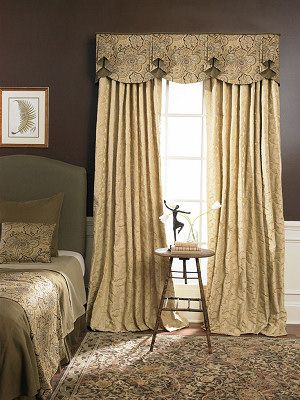 Double flat pleat valance with scallop.  So elegant!