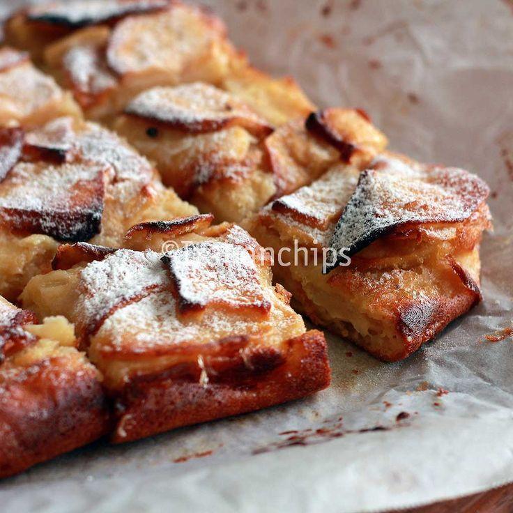 Una torta di mele cremosa, deliziosa e facile da preparare con ingredienti che probabilmente avete già a casa