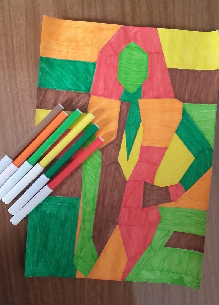 Materiales empleados en el desarrollo del dibujo en tonos cálidos.