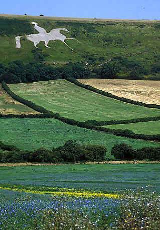 White Horse featuring King George III (third), near Weymouth, in Dorset.