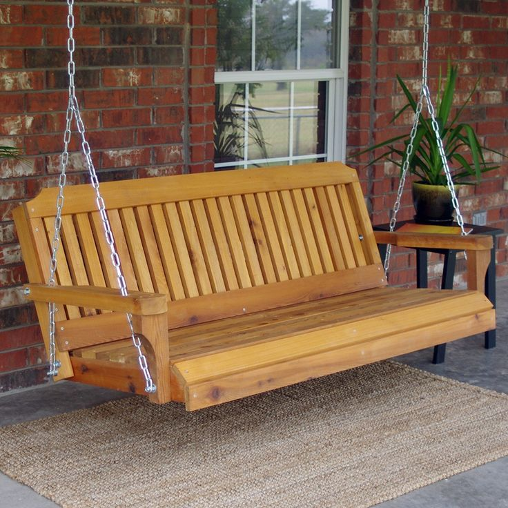 TMP Outdoor Furniture Traditional Red Cedar Porch Swing