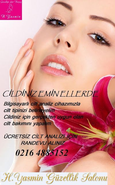 Ücretsiz Cilt Analizi H.Yasmin Güzellik Salonunda Randevu için:02164885152 Oruç Reis sok. No:1/2 Kartal / İstanbul