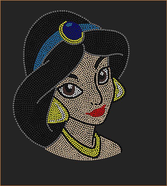 Jazmín de Aladino de Disney inspirado por RhinestonesTransfers