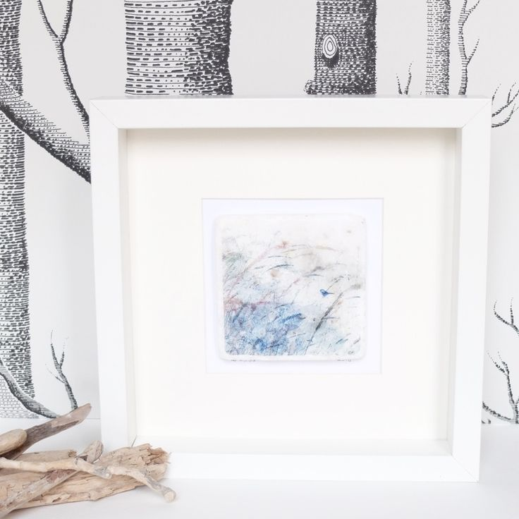 Image of Bird in the Grasses 3 - Limited Edition Printed Marble Tile, Framed & Signed