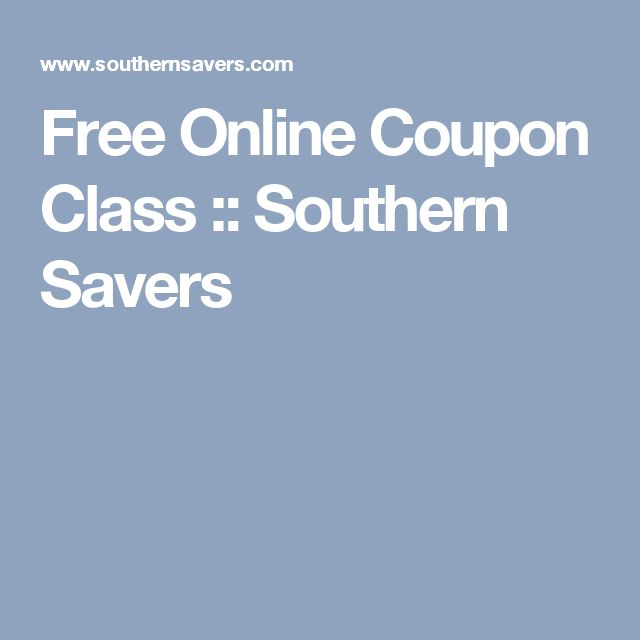 Free Online Coupon Class :: Southern Savers