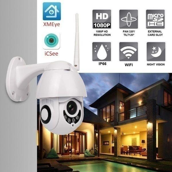2020 Ip Camera Onvif Wifi 2mp Hd 1080p Wireless Speed Dome Ir Camera Outdoor Security Surveillance Netcam Ip Camara Exterior Tf Card With Images Ip Camera Wireless Home Security Systems Home