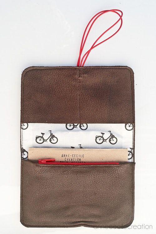 Portefeuille/porte-cartes/porte-monnaie en cuir marron pour homme