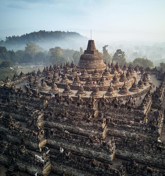 Borobudur Temple of Indonesia - WORLD TRAVEL DESTINATIONS | Foto wisata,  Pemandangan, Pariwisata
