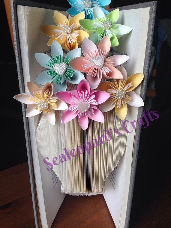 Vase Book Folding Pattern by SealeopardsCrafts on Etsy