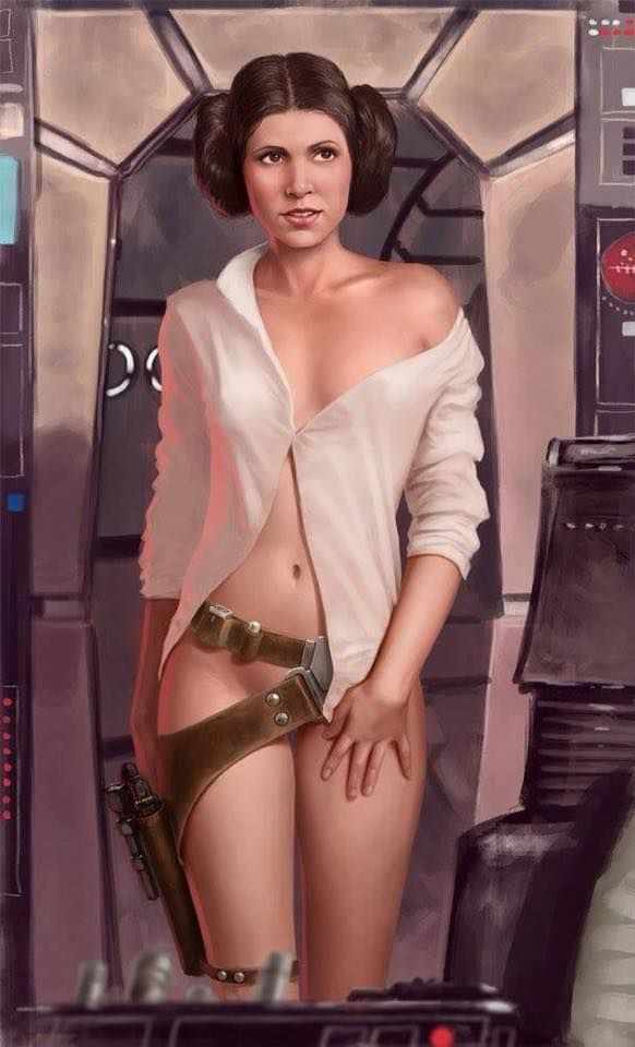 This is hands down the sexiest pic of Princess Leia. Do you think Han had that…