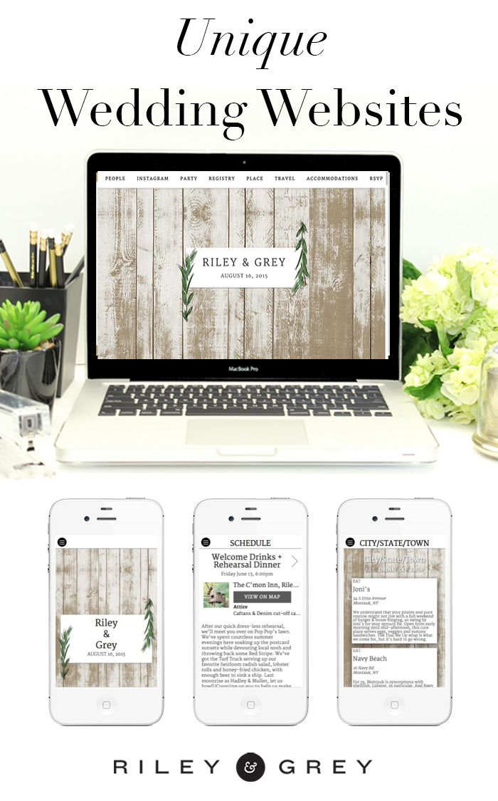 """Olive"" rustic, natural wedding website design example from Riley & Grey. Click through to view this and other limited-edition, luxury templates.  https://www.rileygrey.com (wedding planning, wedding app, save the date, invitations, modern wedding)"