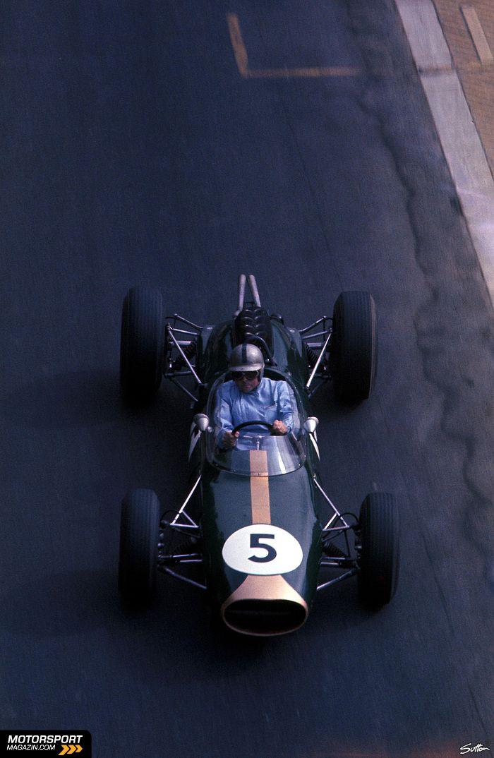 Jack Brabham in his even built car at the Monaco Grand Prix 1964