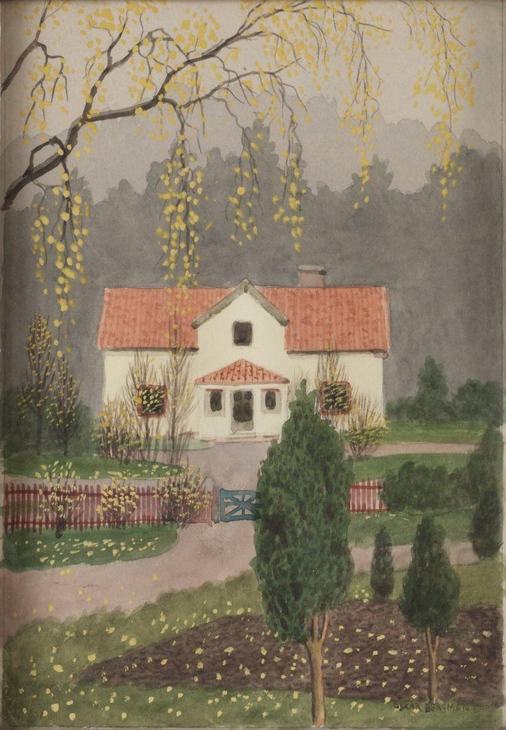 Oskar Bergman  (1879-1963): Höst vid Tattby